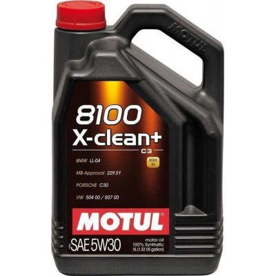 Motul 8100 X-Clean+ C3 5W-30 5lt